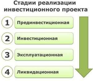 Инвестиционная стадия (этап, фаза): понятие и виды
