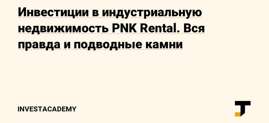 Розничные инвестиции в индустриальную недвижимость:  плюсы и минусы на примере PNKrental